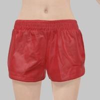 leather short red 3d obj