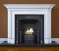 regency hob grate fireplace 3d max