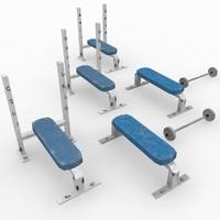 3d bench bar