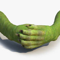 3d goblin hands pose 4