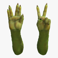 3d goblin hands pose 5 model