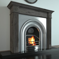 fireplace classical 3d max
