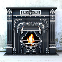 classic fireplace leinster adams 3d model