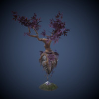 3d model flying tree