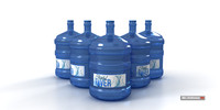 water bottle refill container 3ds