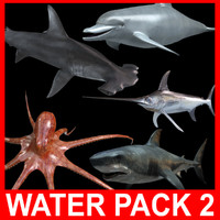 Water Pack 2 (5 Rigged Models)