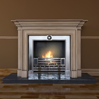 3d model fireplace classical