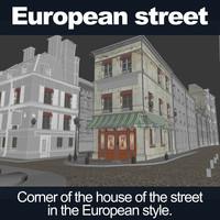 street european 3d model