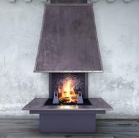 fireplace polystal 3d model