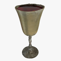 antique wine glass 3d 3ds