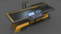 sci fi repair table 3d model