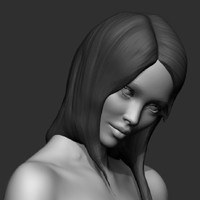 3d realistic zbrush posed nude female model