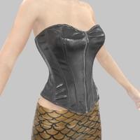 leather corset obj