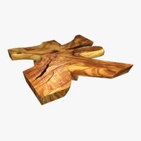 wood table chamcha slice 3d obj