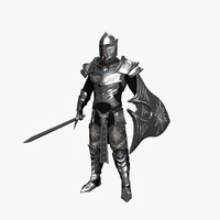 3d model fantasy knight