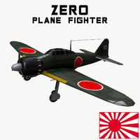 3d mitsubishi a6m2 zero plane