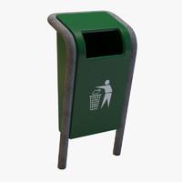 public trash 3d model