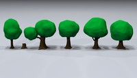 3d toon trees model