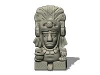 aztec figure 3d model