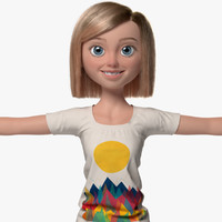sophia cartoon woman girl 3d ma