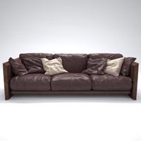 soft wood sofa riva 3d max