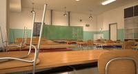 classroom 3d max