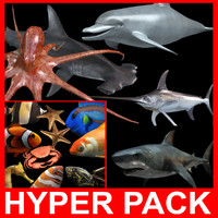 Hyper Water Pack (14 Rigged models)