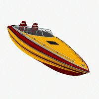 3d speed boat