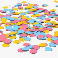 confetti colors 3d 3ds