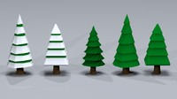 Low Poly Toon Trees 2