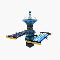 system satelite 3d max