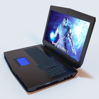 3d alienware gaming laptop model