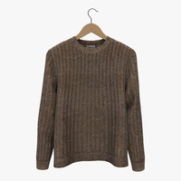 sweater hanger 2 3d model