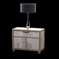 bedside table lamp 3d model
