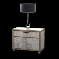 bedside table lamp 3d model