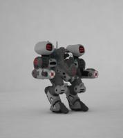 3d mech walker model