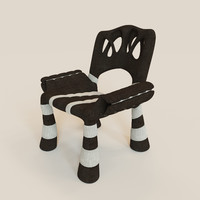 3d model mad chair stylish