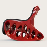 rocking chair cat 3d model