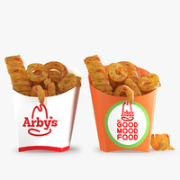 3d model arby s curly fries