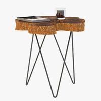 burl slice tables 3d model