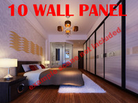 3d model separator decorative panel wall
