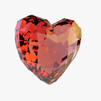 3d model crystals heart