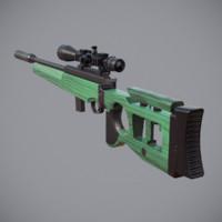 3d sv-99 sniper rifle model