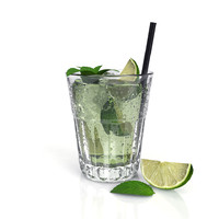 fresh cocktail lime 3d 3ds
