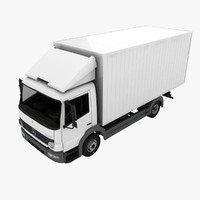 3d mercedes-benz atego truck model
