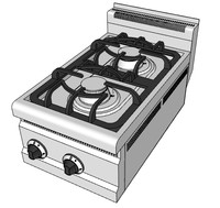 3d model gas boiling tops