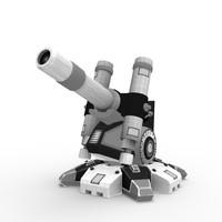 sci-fi cannon 3d fbx