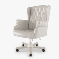 Armchair Swivel White