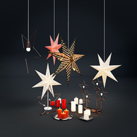 christmas decorations ikea 3d obj