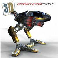 exoskeleton robot 3d obj